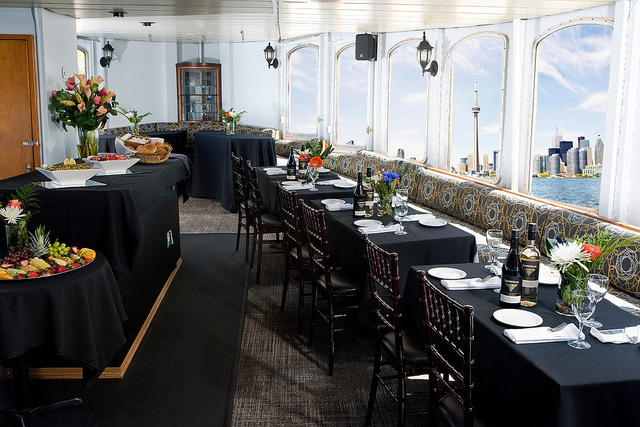 Interior main dining aboard the Oriole