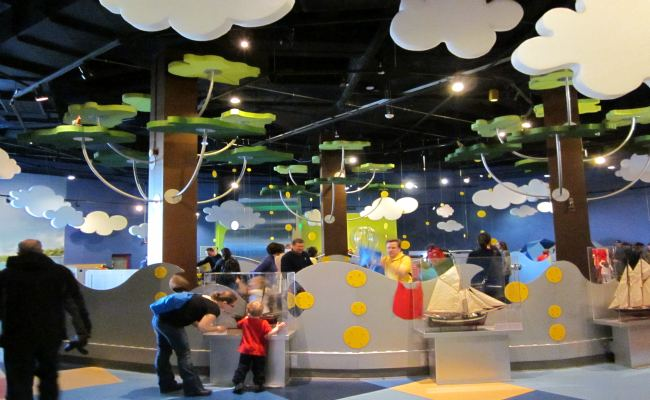 Kids play in the KidSpark room at the Ontario Science Centre.