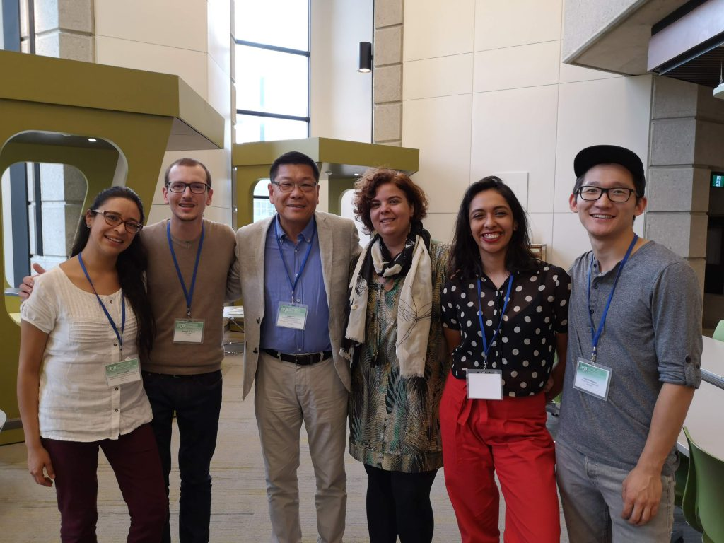 Photo of ELPUB travel scholars with co-chair Leslie Chan